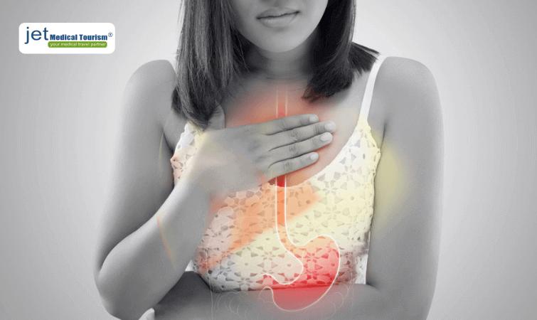 Lap band heartburn pain