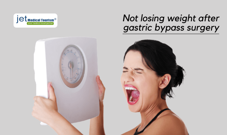 Not losing weight after gastric bypass surgery